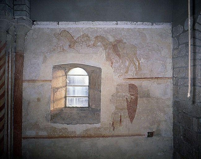 Peintures monumentales de la travée droite (ensemble des peintures monumentales)