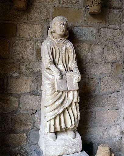 Statue : le moine Gérald de Laffaux
