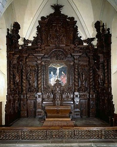 ensemble du mobilier du choeur (autel, 2 tabernacles, 3 gradins d'autel, exposition, retable, clôture de choeur)