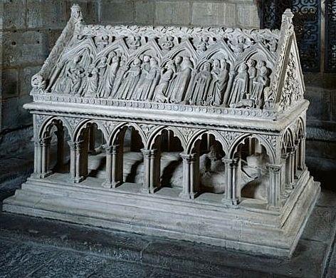 Ensemble du monument sépulcral d'Etienne d'Obazine (tombeau, statue)