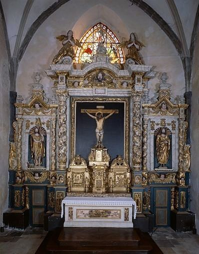 ensemble du maître-autel (autel, gradin d'autel, tabernacle, exposition, retable, tableau)