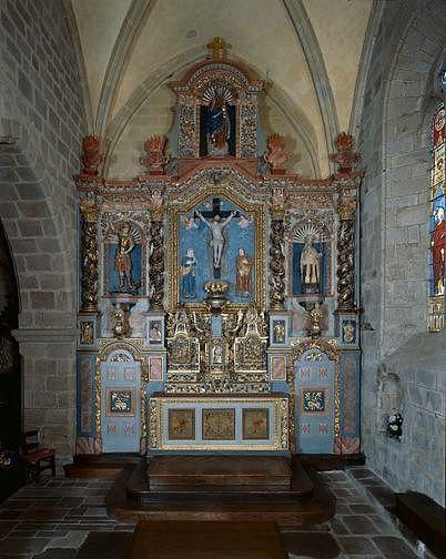 ensemble du maître-autel (autel, 2 gradins d'autel, tabernacle, exposition, retable)