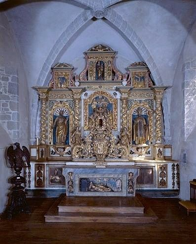 ensemble (autel, gradin d'autel, tabernacle, exposition, retable)