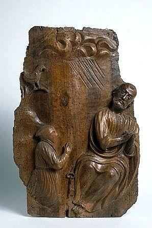 demi-relief : saint Pierre et le pénitent