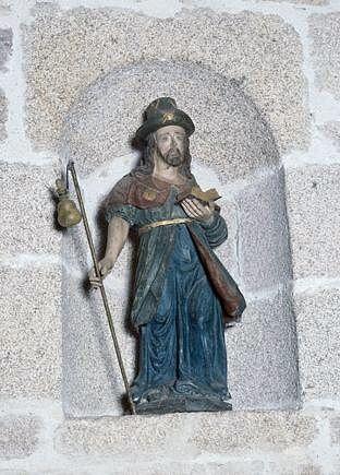 Statue (demi-nature) : saint Jacques le Majeur