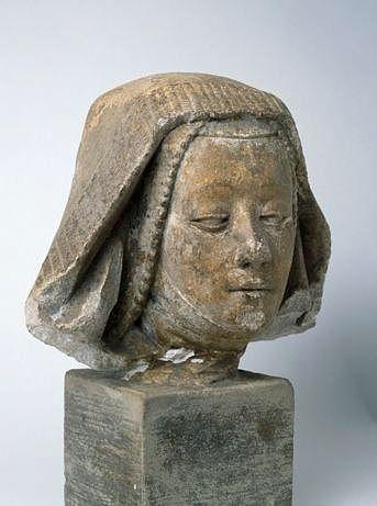 statue (tête de statue) : Vierge ?, dite tête de bernardine