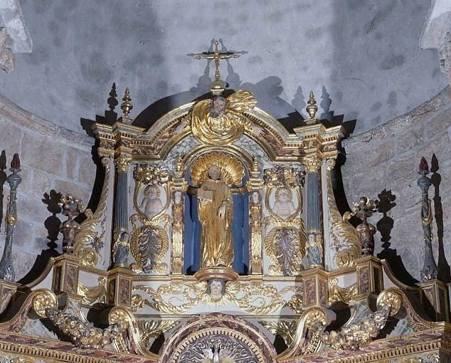 Retable architecturé dit retable de la Remise des clefs à saint Pierre, statue : saint Benoît