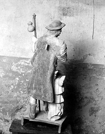 groupe sculpté : saint Roch
