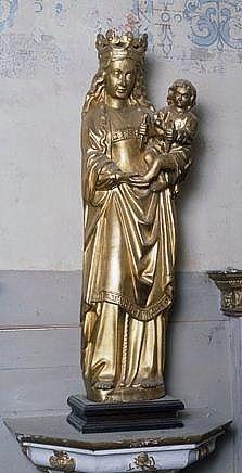 statue : Vierge à l'enfant tenant une colombe