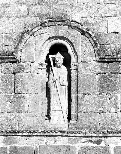 Statue (décor d'élévation extérieure) : saint Martial