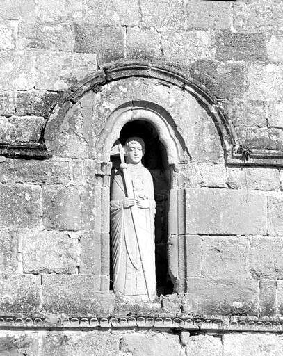 Statue (petite nature, décor d'élévation extérieure) : saint Pardoux
