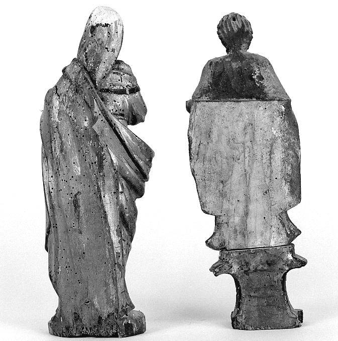 statue : saint Roch ; statue : Vierge à l'enfant