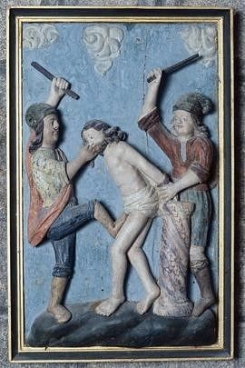 demi-relief : la Flagellation du Christ
