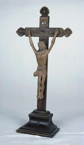 Croix d'autel ou croix de sacristie (?) : Christ en croix