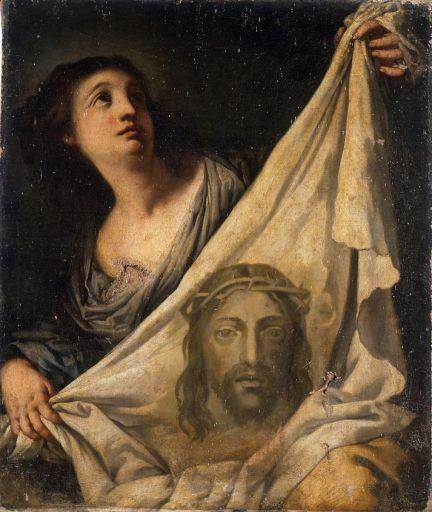 Tableau : sainte Véronique tenant le Saint Suaire