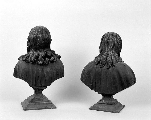 ensemble de 2 bustes-reliquaires : saint Thomas Becket, saint Vincent