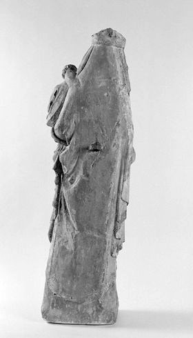 Statue (petite nature) : Vierge à l'Enfant dite Vierge à la grappe