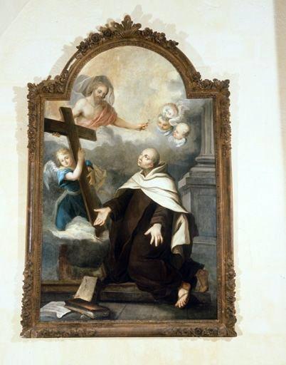 Tableau, cadre : la Vision de saint Jean de la Croix