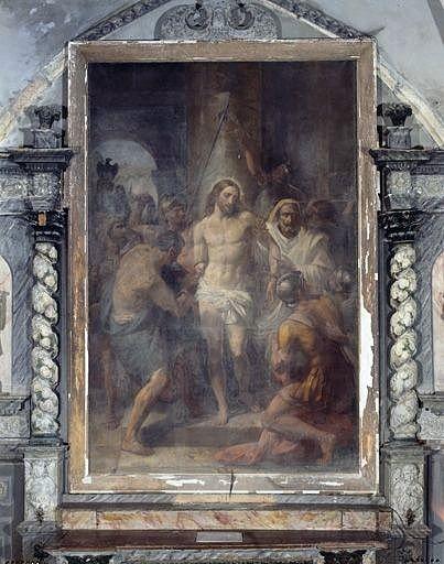 tableau : le Christ lié pour la flagellation
