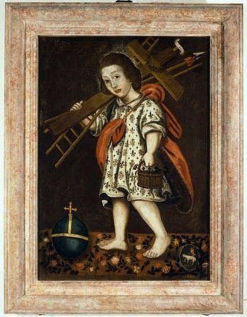 tableau : l'Enfant Jésus portant les instruments de la Passion