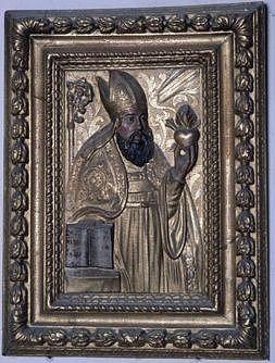 Bas-relief : saint Augustin