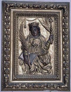 Bas-relief : sainte Ursule