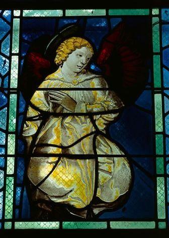 Panneau de verrière : ange (baie 5)