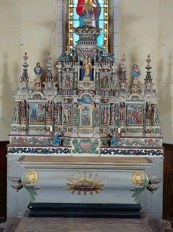 Ensemble du maître-autel (autel, 2 gradins, tabernacle, exposition)