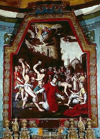tableau, cadre : le martyre de saint Etienne