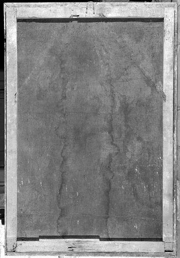 Tableau, cadre : le ravissement d'une sainte (sainte Cécile ?)