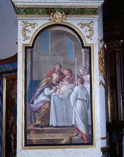 tableau : la Circoncision (lambris de revêtement du décor de choeur)
