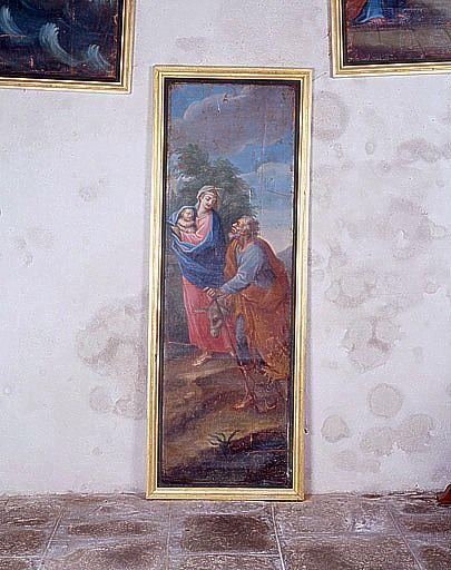 Tableau : la Fuite en Egypte (ensemble du décor intérieur)