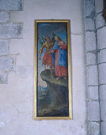 Tableau : la Tentation du Christ (ensemble du décor intérieur)