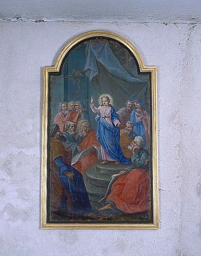 Tableau : Jésus et les docteurs (ensemble du décor intérieur)