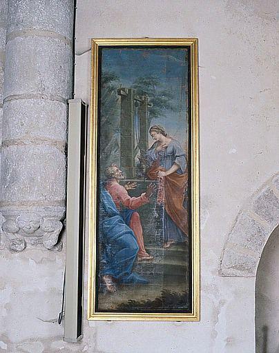 Tableau : Jésus et la Samaritaine (ensemble du décor intérieur)