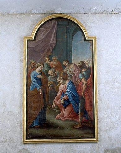 Tableau : la Femme adultère (ensemble du décor intérieur)
