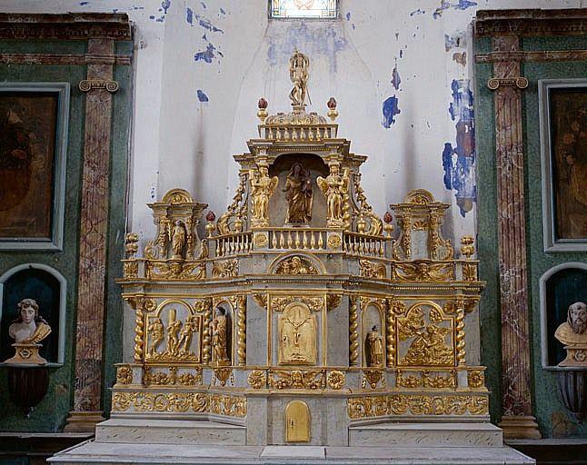 Tabernacle, exposition (ensemble du maître-autel)