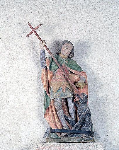 statue (statuette) : saint Michel terrassant le démon