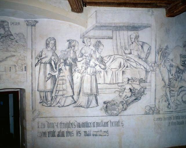 Peintures monumentales : scènes de la vie d'Hercule