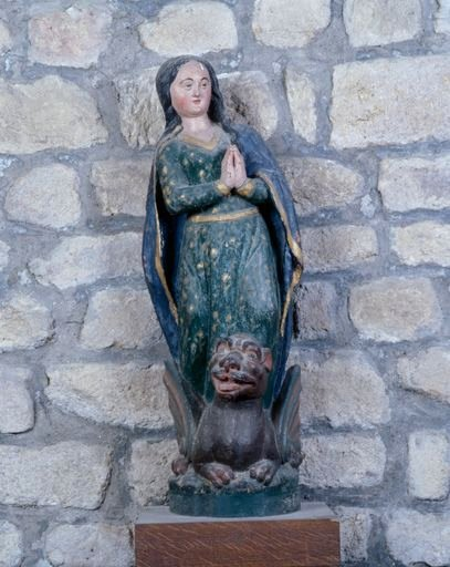 Statue : sainte Marguerite (ensemble de 4 statuettes)