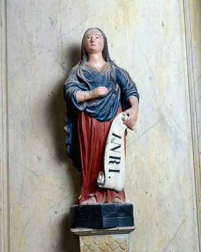 statue : sainte Madeleine (ensemble de 4 statuettes)