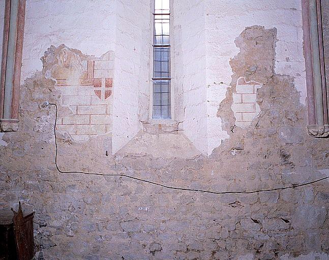 Peintures monumentales, croix de consécration