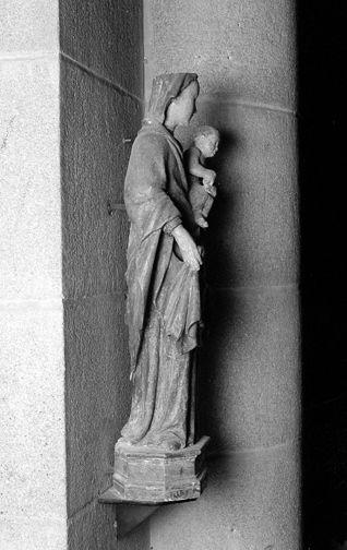 statue : Vierge à l'enfant dite Notre-Dame du Moutier