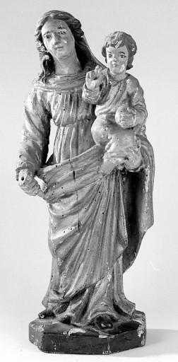 5 statues : Vierge à l'Enfant, saint Jean-Baptiste, saint Pierre ?, saint Pardoux, saint Eloi
