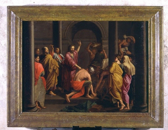 Tableau : l'Expulsion des marchands du Temple
