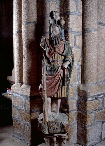Statue (grandeur nature) : saint Christophe
