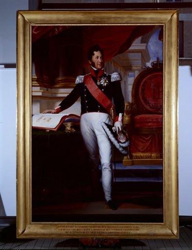 Tableau, cadre : Louis Philippe Ier, roi des Français