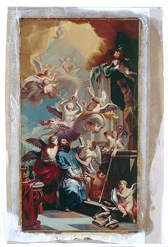 tableau : saint Augustin contemplant la Trinité