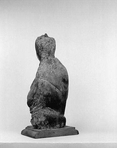 Fragment de statue : Vierge en majesté