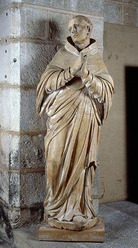 Statue (grandeur nature) : saint Etienne d'Obazine
